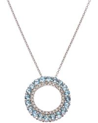 Effy - Fine Jewelry 14k 1.14 Ct. Tw. Diamond & Blue Topatz Necklace - Lyst