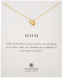 Dogeared - 14k Gold Over Silver Mom Necklace - Lyst