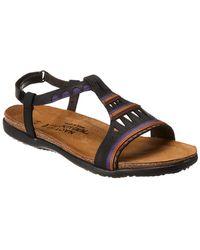Naot - Odelia Leather Flat Sandal - Lyst