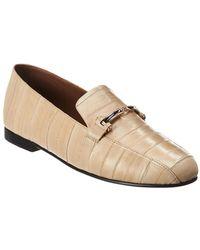 1210113b24f5 Gianvito Rossi  carla  Ankle Tie Metallic Leather Ballerina Flats in ...
