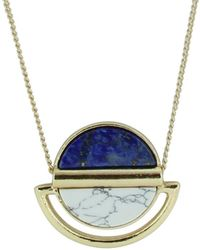 Sparkling Sage - 14k Yellow Gold Plated Resin Necklace - Lyst
