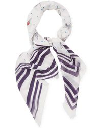 Chanel - Multicolored Cotton Scarf - Lyst