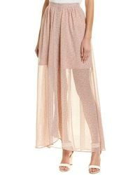5ad28d08df0 French Connection Sheer Floral Maxi Skirt in Pink - Lyst