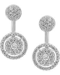 Effy - Fine Jewelry 14k 1.40 Ct. Tw. Diamond Drop Earrings - Lyst