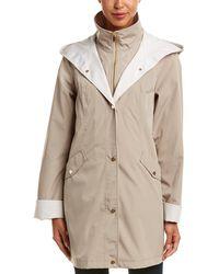 Jones New York - Hooded Rain Jacket - Lyst
