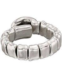 Uno De 50 - Unode50 Eyn Silver Leather Ring - Lyst