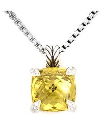 David Yurman - David Yurman Chatelaine Silver Gemstone Necklace - Lyst