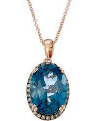 Effy - Fine Jewellery 14k Rose Gold 6.80 Ct. Tw. Diamond & Topaz Necklace - Lyst