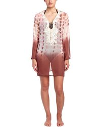 Debbie Katz - Nilah Embroidered Silk Tunic - Lyst