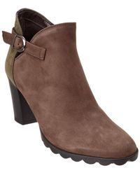The Flexx - The Dippity Dew Leather & Suede Ankle Boot - Lyst