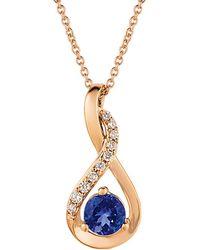 Le Vian - ® 14k Rose Gold 0.58 Ct. Tw. Diamond & Tanzanite Necklace - Lyst
