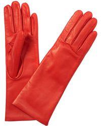 Portolano - Portalano Nappa Leather Fresh Papaya Gloves - Lyst