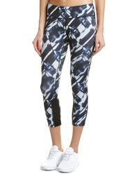 64136a1d73e5ad Nike Power Epic Run Mesh-trimmed Printed Stretch Leggings in Gray - Lyst