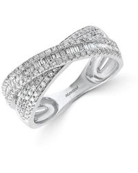 Effy - Fine Jewellery Classique Diamond & 14k Crisscross Ring - Lyst