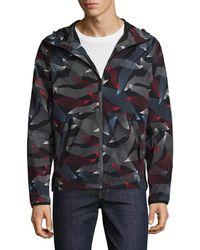Perry Ellis - 360 Printed Hooded Jacket - Lyst