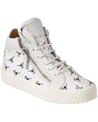 Giuseppe Zanotti - Leather High-top Sneaker - Lyst