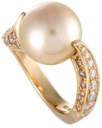 Mikimoto - 18k 1.20 Ct. Tw. Diamond & 12-13mm Pearl Ring - Lyst