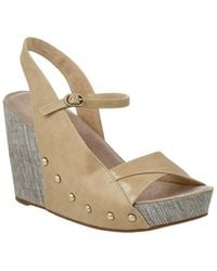 Antelope - 714 Leather Wedge Sandal - Lyst