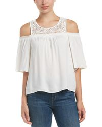 Ella Moss - Crocheted Yoke Top - Lyst
