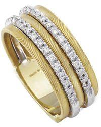 Marco Bicego - Goa 18k Yellow Gold 0.26 Ct. Tw. Diamond Ring - Lyst