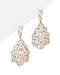 Diana M. Jewels - . Fine Jewelry 18k Rose Gold 6.10 Ct. Tw. Diamond Earrings - Lyst