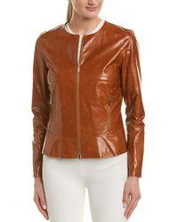 Lafayette 148 New York - Linda Leather Jacket - Lyst