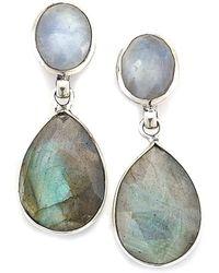Samuel B. - Silver Gemstone Earrings - Lyst