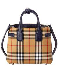 58fa3d0903bb Burberry - Baby Banner Vintage Check   Leather Shoulder Bag - Lyst