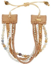 Chan Luu - Gemstone & Mother-of-pearl Adjustable Bracelet - Lyst