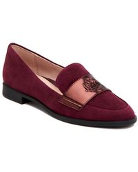 Taryn Rose - Blossom Suede Slip On Loafers - Lyst