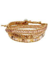 Chan Luu - Silver Leather Jasper Wrap Bracelet - Lyst