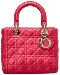 Dior - Pink Lambskin Leather Small Lady - Lyst