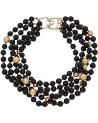 Kenneth Jay Lane - 22k Plated Resin Multi-strand Necklace - Lyst