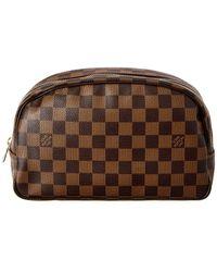 e827218bf45e6 Lyst - Louis Vuitton Damier Ebene Key Pouch Brown in Brown