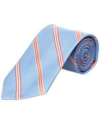 Brooks Brothers - Light Blue Stripe Silk Tie - Lyst