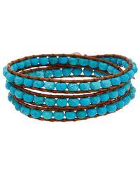 Chan Luu - Silver Turquoise Wrap Bracelet - Lyst