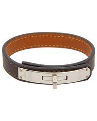 Hermès - Brown Leather Kelly Bracelet - Lyst