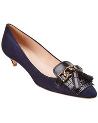 Tod's - Fringe Suede Pump - Lyst