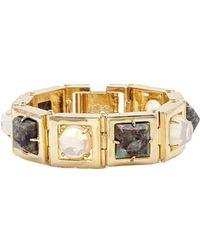 Lele Sadoughi - 14k Plated Howlite Bracelet - Lyst