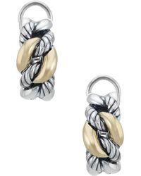 David Yurman - David Yurman Belmont Curb Link 18k & Silver Earrings - Lyst