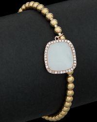 Meira T - Silver & Brass 2.50 Ct. Tw. Diamond & Quartz Stretch Bracelet - Lyst