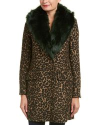 Belle By Badgley Mischka - Holly Wool-blend Coat - Lyst