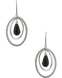 David Yurman - David Yurman Mobile Silver 9.00 Ct. Tw. Onyx Drop Earrings - Lyst