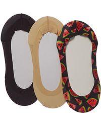 Memoi - 3pk Liner Socks - Lyst