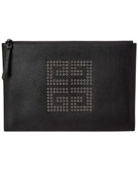 Givenchy - Eyelet Embellished Leather Pouch - Lyst