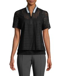 Punto - Perforated Mesh Top - Lyst