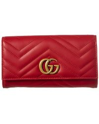 Gucci - - GG Marmont Continental Wallet - Lyst