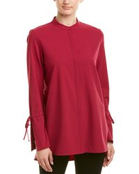 d669a2d794dd3 Ralph Lauren Polo Desra Polka Dot Silk Shirt in Blue - Lyst