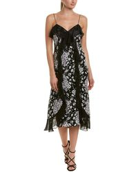Cinq À Sept - Joelle Silk Midi Dress - Lyst