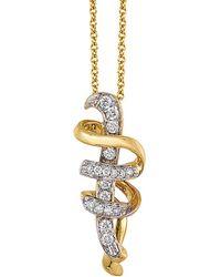 """Le Vian - ® Movement""""¢ 14k 0.14 Ct. Tw. Diamond Necklace - Lyst"""